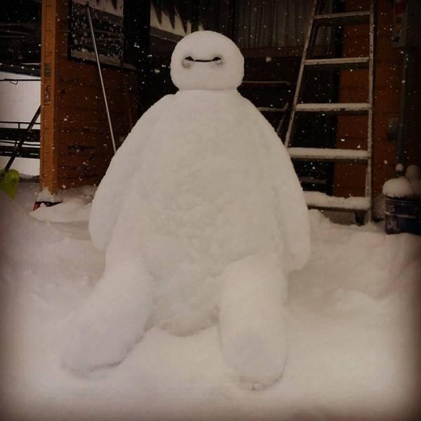Снеговики в Японии