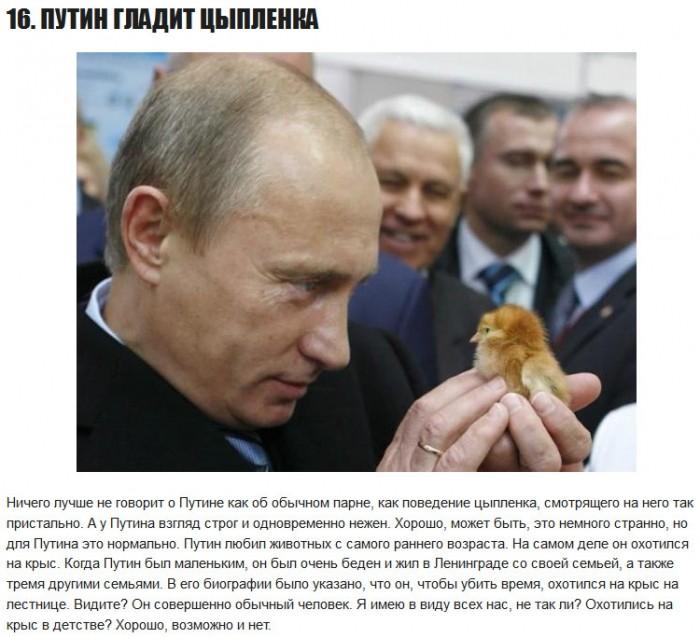 16 лучших фотографий Владимира Путина