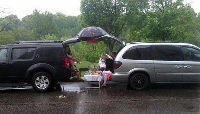 Русские на загородном отдыхе