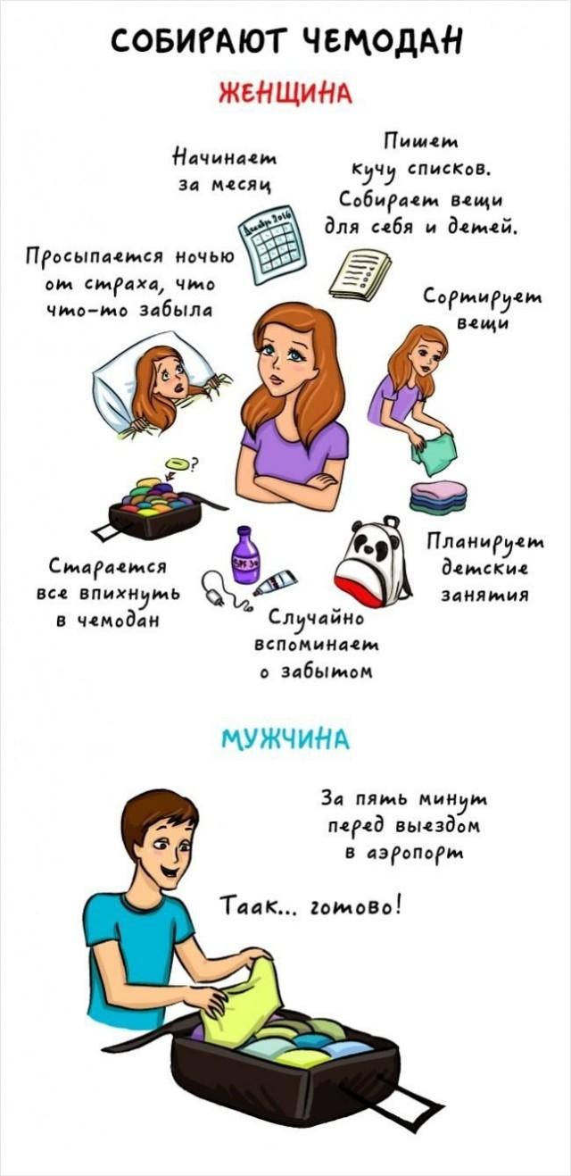 Чем отличаются друг от друга мужчины и женщины