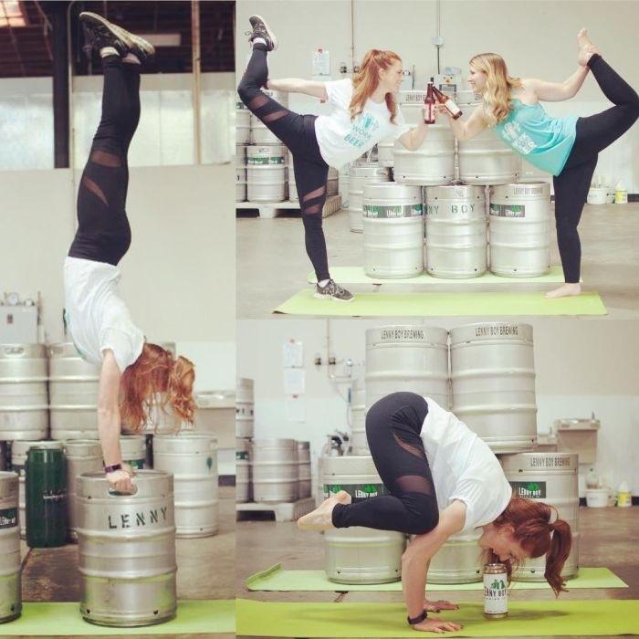 «Пивная йога» становится все более популярной и распространенной