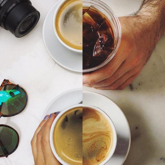 Пара делает «совместные фото» из половинок разных снимков