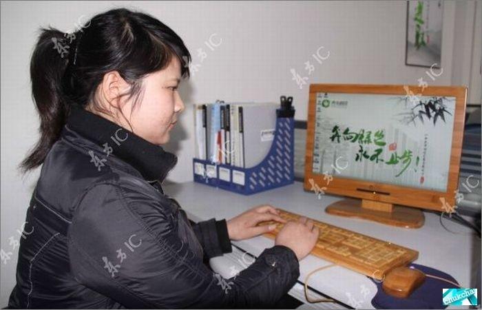 Бамбуковые клавиатура и мышь (12 фото)