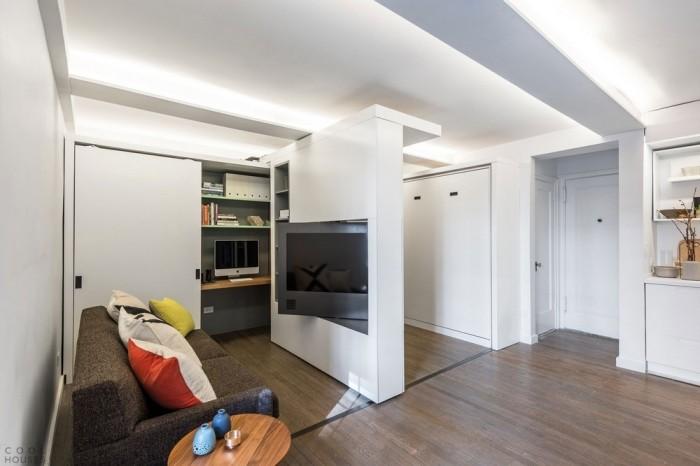 Квартира-траснформер в Нью-Йорке 5 комнат на 36 кв метрах
