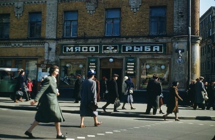 Цветные снимки атташе (шпиона) США в СССР 1952-1954 года