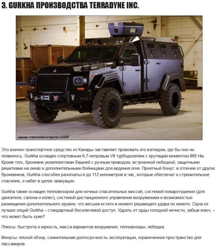 5 автомобилей для выживания в зомби-апокалипсис