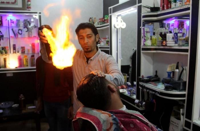 Огненная парикмахерская в Газе