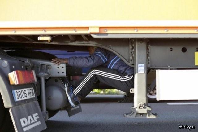 Как прячутся нелегальные мигранты (17 фото)