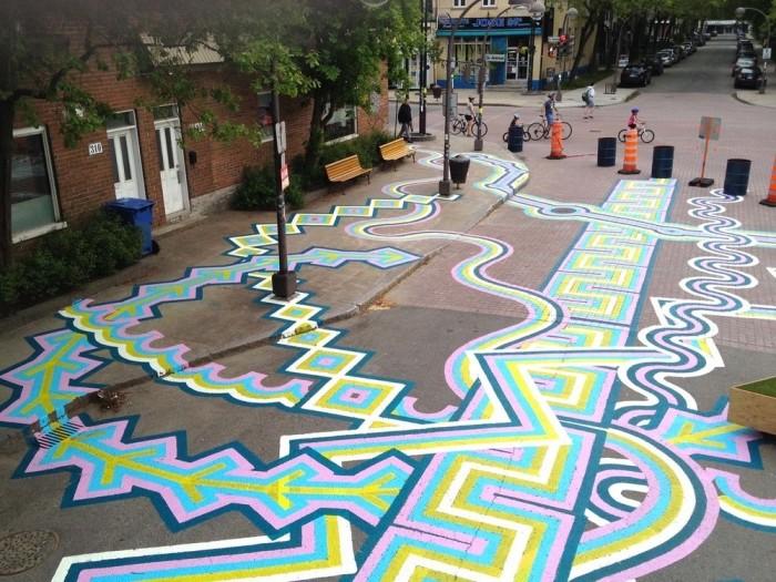 Интересный стрит-арт канадского художника