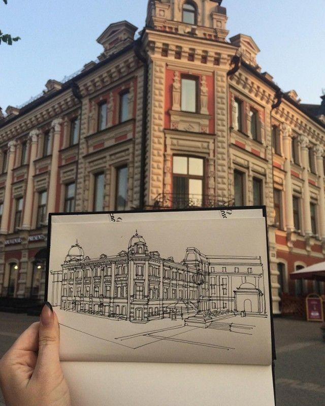 Студентка-архитектор из Казани рисует потрясающие проекты и эскизы зданий (18 фото)