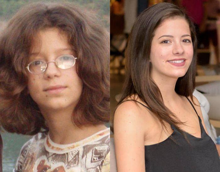Невероятные преображения неказистых подростков (20 фото)