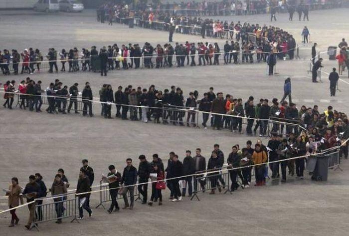 Фото из густонаселенных районов Китая (21 фото)