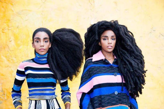 Роскошные волосы принесли успех сестрам-близнецам (17 фото)