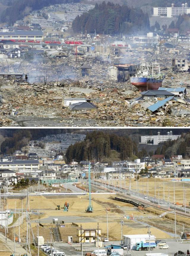 АСЭ Фукусима-1 спустя 6 лет после аварии (10 фото)
