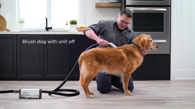 Новый гаджет в разы упрощает процесс мытья собаки (5 фото + видео)