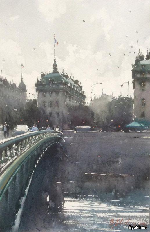 Акварельная живопись Джозефа Збуквича (30 фото)