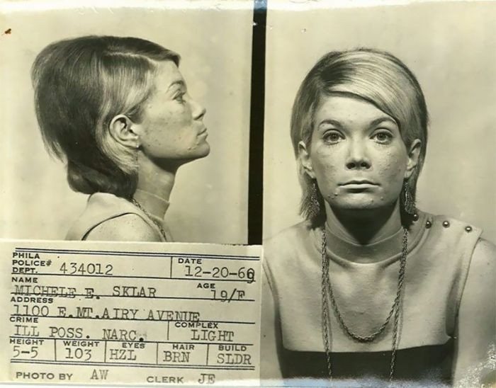 Магшоты американских преступниц 60-х годов XX века