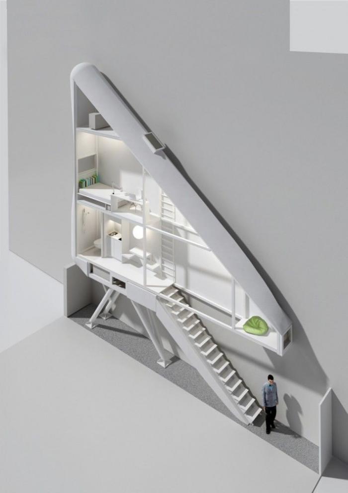 Дом толщиной в человека (4 фото)