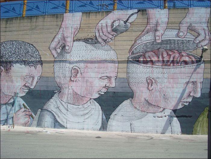 Граффити - идеальный солдат (6 фото)