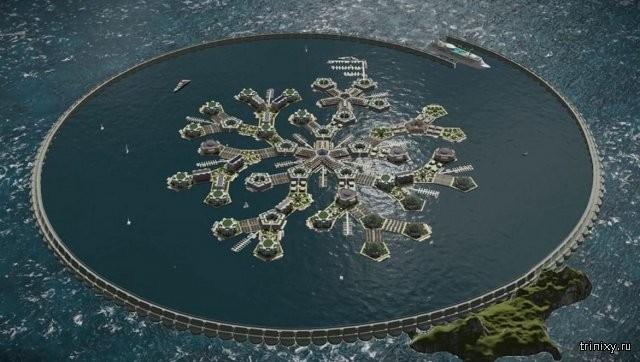 Разработан проект первого в мире города на воде