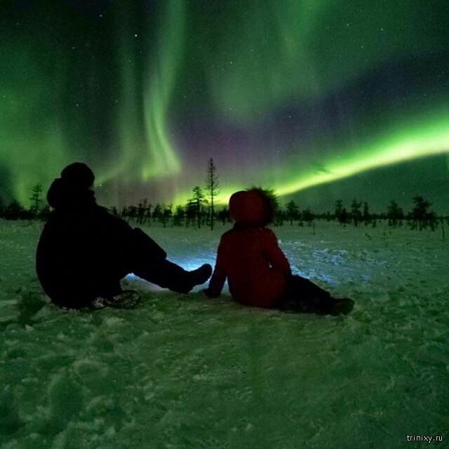 Северное сияние в Якутии (7 фото)