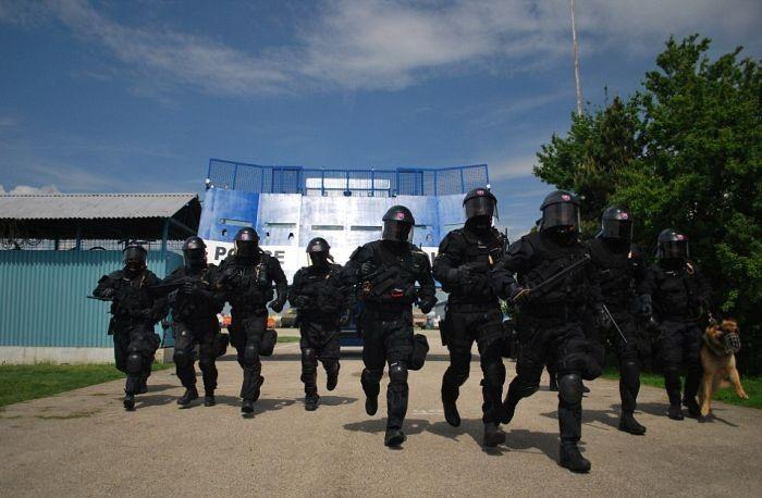 Щит для борьбы с массовыми беспорядками (7 фото)