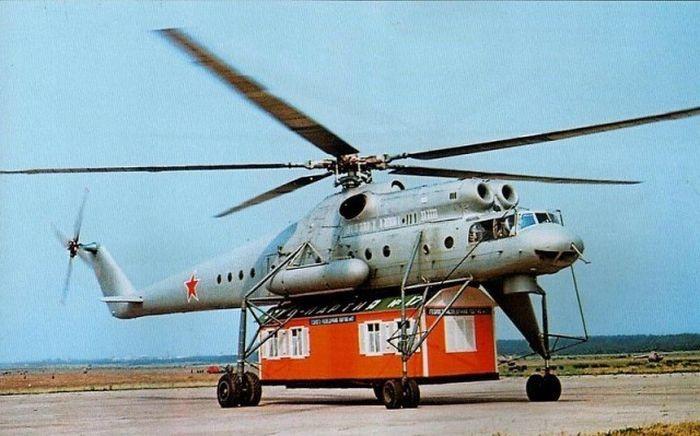 «Летающий кран» Ми-10 (3 фото)