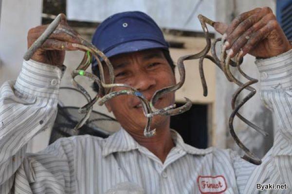 Вьетнамец не обрезал ногти больше 35 лет (14 фото)
