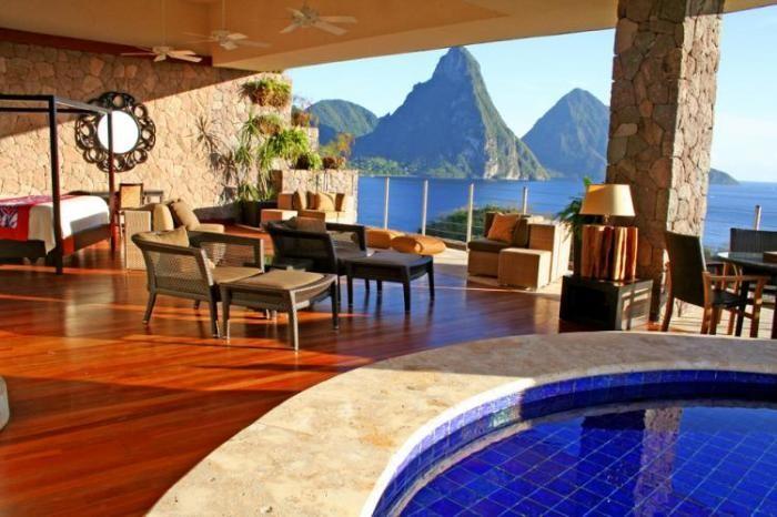 Отель Jade Mountain на Карибах (19 фото)