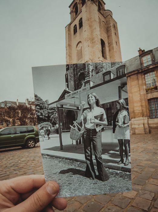 Исторические фото на фоне современных мест (23 фото)