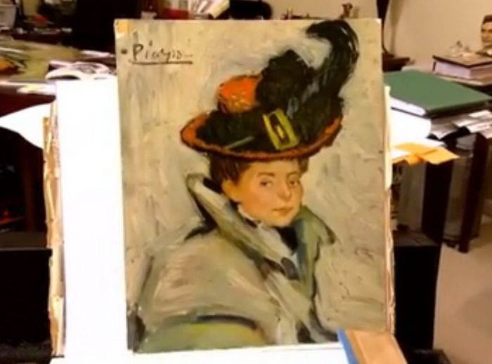 Неизвестная картина Пабло Пикассо, пролежавшая в швейной машинке (3 фото)