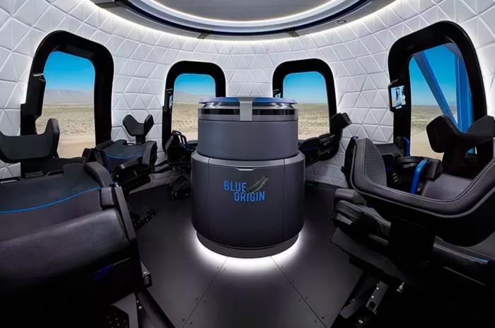 Интерьер капсулы New Shepard космических туристов (5 фото)
