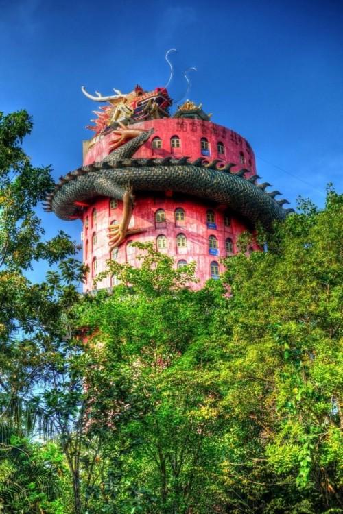 Храм Дракона в Тайланде (5 фото)