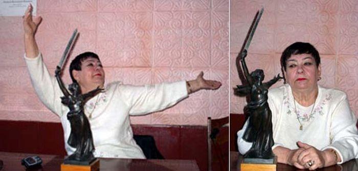 Женщина, ставшая натурщицей скульптуры «Родина-мать» (2 фото)