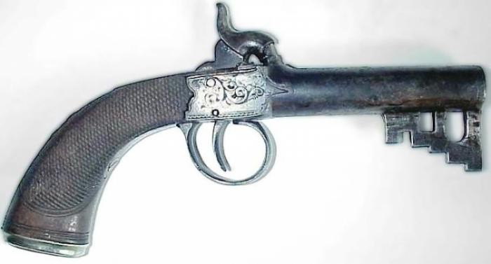 Огнестрельные ключи XVII века (6 фото)