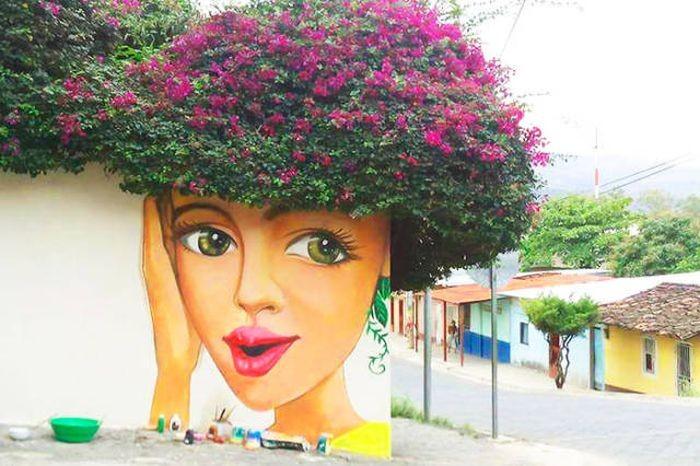 Природа в уличном искусстве (48 фото)