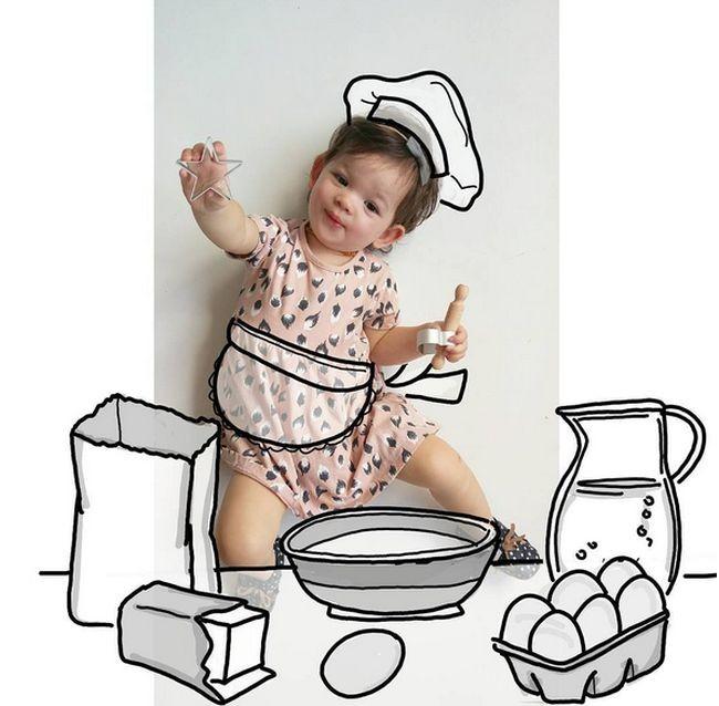 Мать придумывает креативные фотоистории для своей дочери (26 фото)