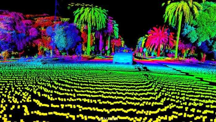 Каким «видят» окружающий мир беспилотные автомобили (6 фото)