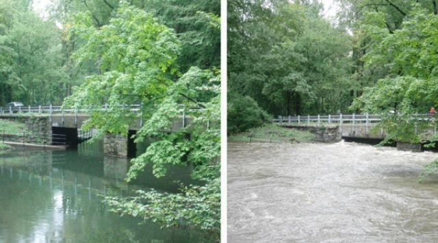 Фотографии до и после урагана Ирен (17 фото)