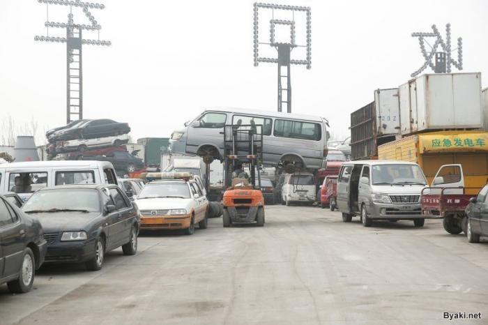 Китайское кладбище автомобилей (6 фото)