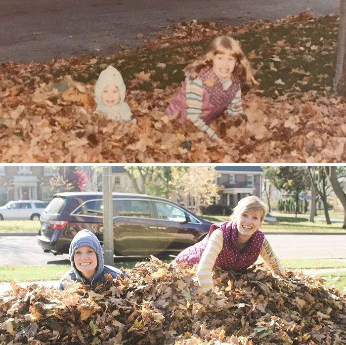 Воссоздание фотографий из детства (30 фото)