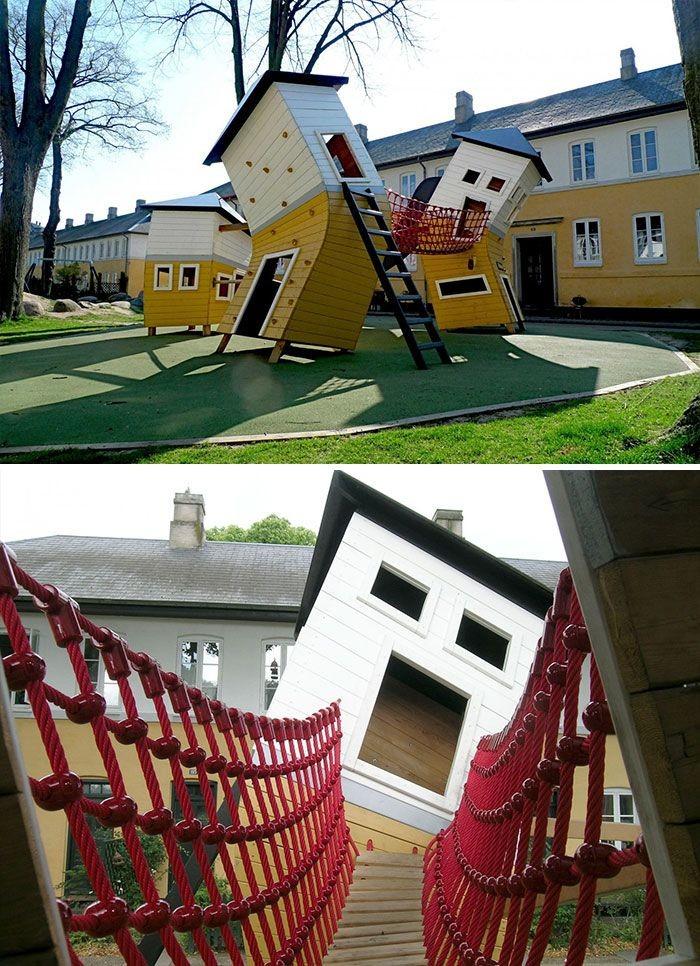 Креативные детские игровые площадки (35 фото)