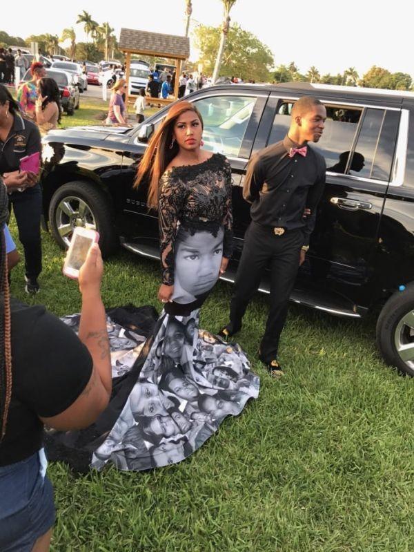 Американка надела на выпускной необычное платье (5 фото)