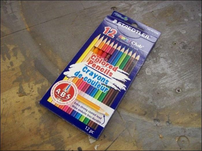Милое колечко из стопки разноцветных карандашей (14 фото)