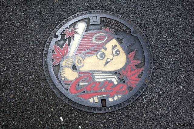 Дорожные люки в разных городах Японии (22 фото)