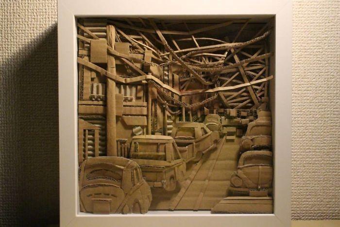 Скульптуры из картона (30 фото)