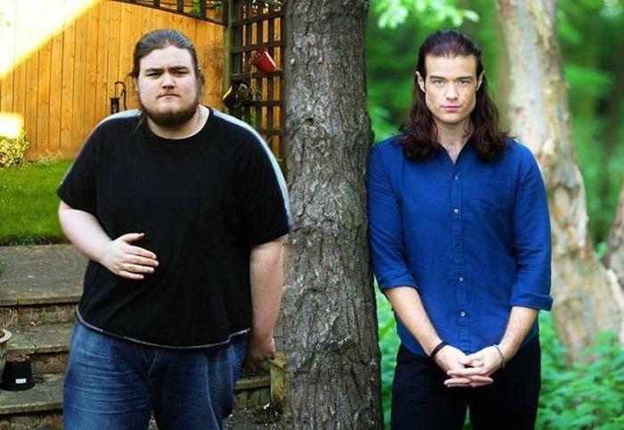 Мужчины, поборовшие лишний вес (9 фото)