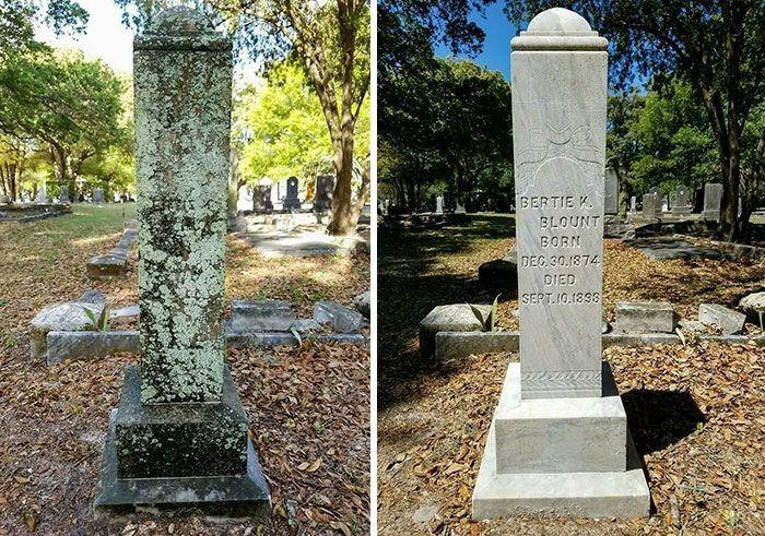 Американец приводит в надлежащий вид могилы ветеранов (11 фото)