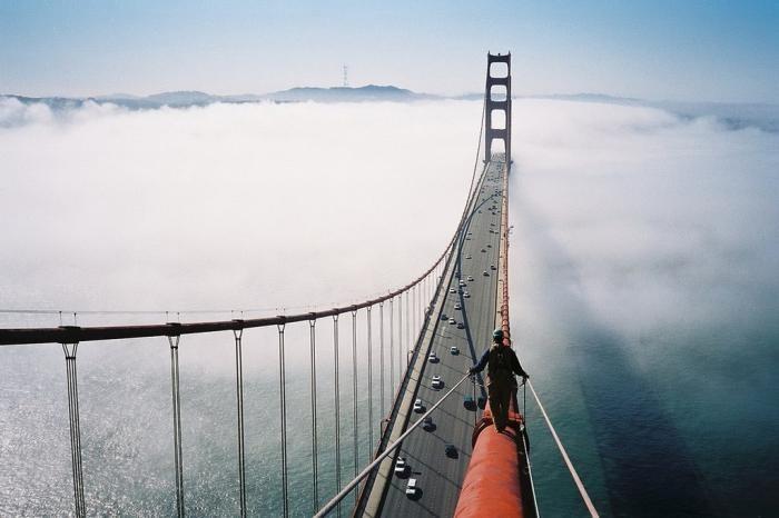 Трос моста «Золотые Ворота» в Сан–Франциско (3 фото)