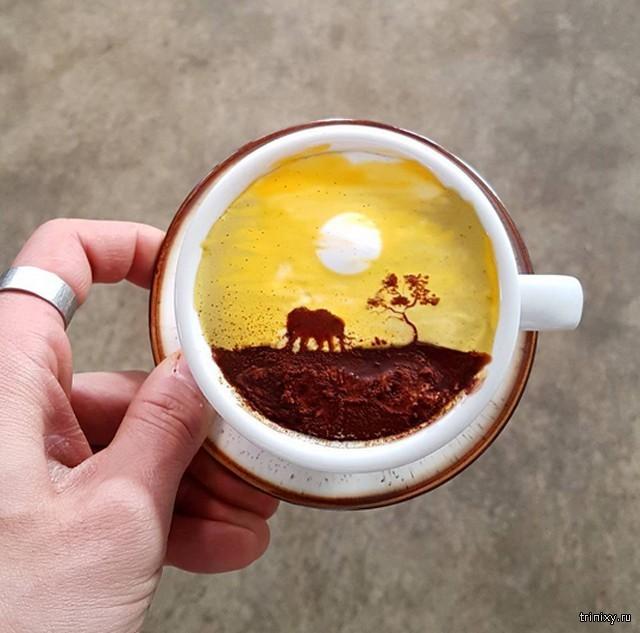Оригинальные рисунки на кофе (14 фото)
